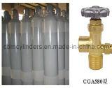 Cilindros de gás 40L do argônio com válvulas Cga580 do argônio