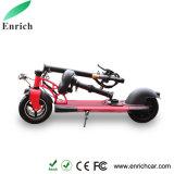 Rad zwei, das elektrischen Roller für Erwachsenen faltet