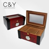 Clear Window Wooden Cigar Humidor