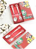 Cuchara y cuchillo del acero inoxidable con el conjunto tradicional del regalo de la cara de China