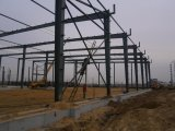 Estructura de acero pre dirigida del panel de emparedado para el taller del almacén
