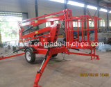 10m Mobile Hydraulic Towable Lift aérien à vendre
