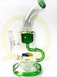 コロナのReycler 12inch 5mm厚く最も新しいデザイン煙る管のKleinの再資源業者の卵の管のFabbの装備のHeadshopの管の氷は灰のキャッチャーのガラス配水管にノッチを付ける