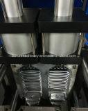 Máquina que sopla de la botella del animal doméstico con los ventiladores de un horno dos