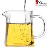 jarro resistente ao calor do chá do vidro de Borosilicate 320ml/jarro de vidro do chá/jarro de vidro da água/jarro de leite de vidro