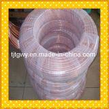 Tubo de cobre revestido del PVC, tubo acanalado de cobre
