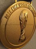 Medalhão 2018 da medalha da lembrança do campeonato do futebol do copo de mundo de Rússia Moscovo FIFA