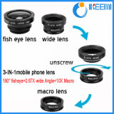 Lente de Fisheye para el teléfono móvil, lente de cámara del teléfono celular