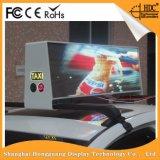 Double signe polychrome dégrossi imperméable à l'eau P5mm d'affichage vidéo de panneau du taxi DEL