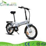 隠された電池が付いている20インチのアルミ合金の軽量の折るEバイク