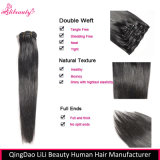clip brasileño del pelo humano de la Virgen 8A en extensiones del pelo