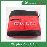 Rote Farben-Kurier-Beutel mit Zippered äußerer Tasche