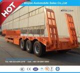 3 Aanhangwagen van het Bed van de as de Lage of de Semi Aanhangwagen van de Vrachtwagen Lowboy