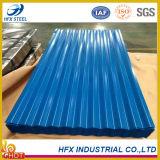 Feuille galvanisée de toiture de fer ridée par couleur avec le prix