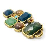 주조 합금으로 만드는 다채로운 아크릴 수지 모조 다이아몬드 늘어진 목걸이