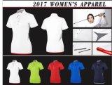 Maglietta asciutta veloce di golf delle 5 di colori di alta qualità breve donne del manicotto