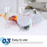 échelles électroniques postales du régime de nourriture de cuisine de 5000g/1g 5kg DEL Digital