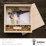 Rectángulo de madera de Hongdao con la insignia de encargo para el vino Gift_D