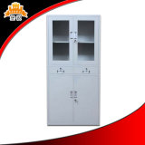 Cabinete de archivo de cristal del acero de la puerta del oscilación