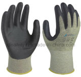 18 отрезанная датчиками упорная перчатка работы с нитрилом пены покрыла (NK3040)