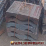 Plaque élevée de grille de manganèse de concasseur à marteaux