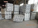Qualité en aluminium de lingot de 99.9% mn