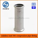 Installazione della pressa della conduttura dell'acciaio inossidabile che registra accoppiamento