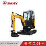Sany Sy16c 파는 굴착기 1.6 톤 작은 트렌치 구멍
