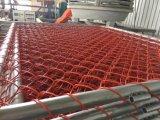 Barriere provvisorie della costruzione rete metallica della catena di colore dell'arancio di 2200mm x di 1100mm per il servizio di Nz