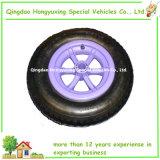 "Roda pneumática do Wheelbarrow de Spoked 14 "" com a borda plástica colorida"