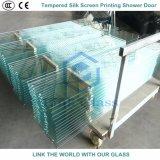 vidrio Tempered de la impresión de la pantalla de seda de 6m m para el sitio de ducha