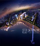 レンダリングの建築視覚化を模倣する目の鳥の眺め3D