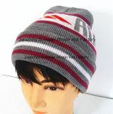Chapeau brodé par chapeau tricoté brodé chaud de Beanie de subsistance de 100%
