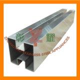316 tubos planos del tubo del cuadrado del acero inoxidable/tubo rectangular
