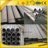 Pipe en aluminium de tube anodisée par ruban en aluminium de section d'OEM