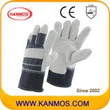 De grijze Volledige Handschoenen van het Werk van de Bedrijfsveiligheid van het Leer van de Zweep van de Palm Gespleten (11005)