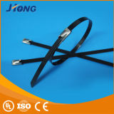 Auto-Fechamento completamente pulverizado plástico da Amarrar-Esfera do cabo do aço inoxidável