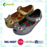 Bowknotの装飾が付いているPVC靴、ゼリーの靴