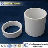 Doublure en céramique résistante à l'usure de pipe de coude pour le transport de boue de minerai de fer
