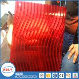 Folha do PC de Sun da clarabóia da cavidade da cor vermelha da forma de S