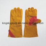 金牛そぎ皮の溶接作業手袋6517