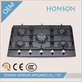 Five Burner Gas Hob에 있는 Tempered Glass Built