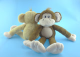 Jouets bourrés mous de singe de peluche