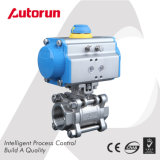 Fornecedor de Wenzhou chinês Válvula de esfera pneumática de aço inoxidável de três peças