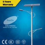 Indicatori luminosi di via solari di alluminio della batteria di litio del materiale 12V 30ah del corpo della lampada con le doppie braccia