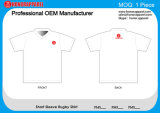 Honorapparel bequeme Qualitäts-Sommer-Sublimation 1 MOQ Rugby-Hemd
