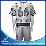Game 저어지와 Game Short를 가진 주문 Sublimation Lacrosse Suit