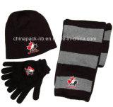Cappello del Knit del Canada della squadra, guanto & regalo della sciarpa 3-PC impostato (CPAS-1005)