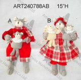 """удерживание Babies-2asst 8 """" пар мыши украшения рождества h"""