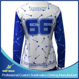 Personalizado Sublimation Lacrosse manga larga Sporting camiseta